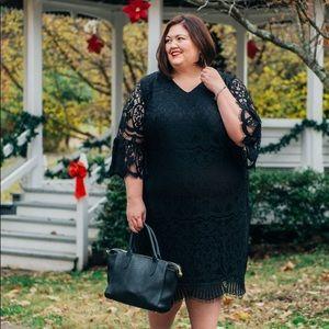Catherines Lace Shift Dress Plus Size